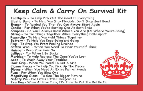 Keep Calm Amp Carry On Survival Kit In A Can